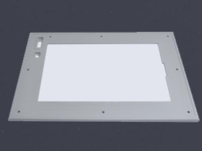 Rahmen Frontplatte Touchscreen Aluminium Edelstahl versiegelt