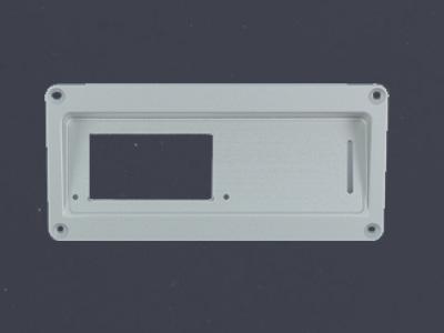 Trägerplatte maßgeschneiderte Platte Aluminium Edelstahl eloxiert farbig