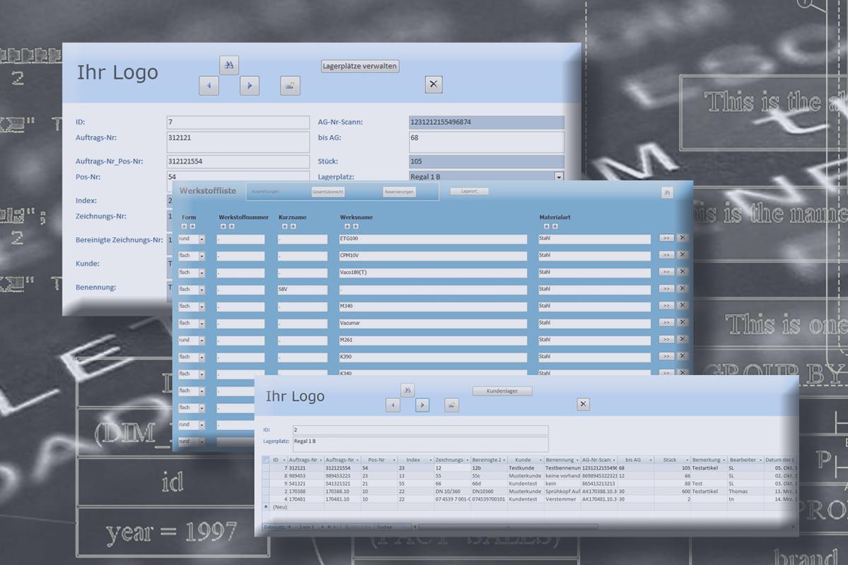 Tool Lagerverwaltung mit automatischer Eingabe über Barcode und Berechnung